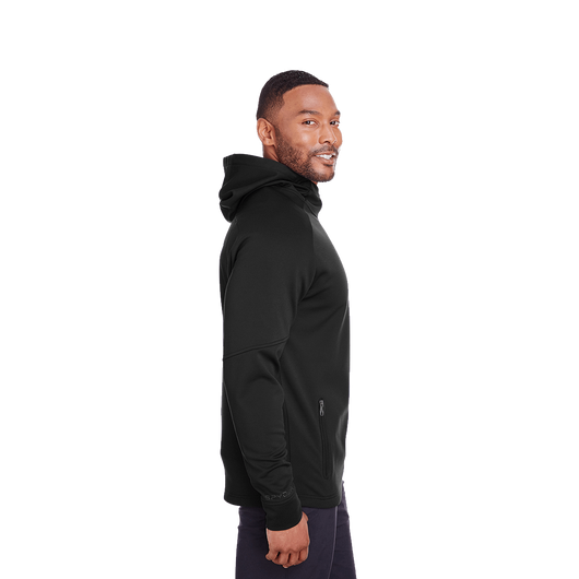 Black / XS Custom Men's Hayer Hooded Sweatshirt