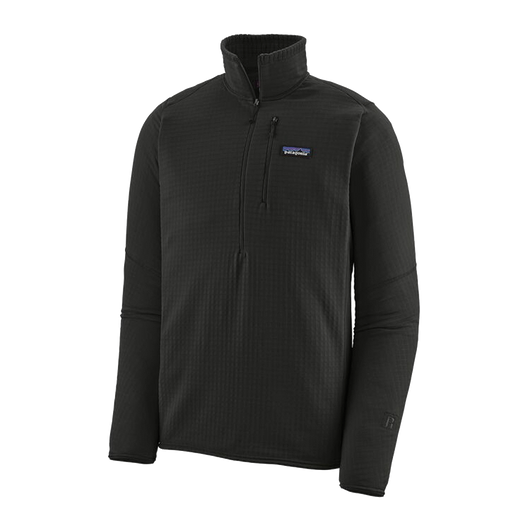 Black / XS Custom Patagonia Men's R1 Fleece Pullover