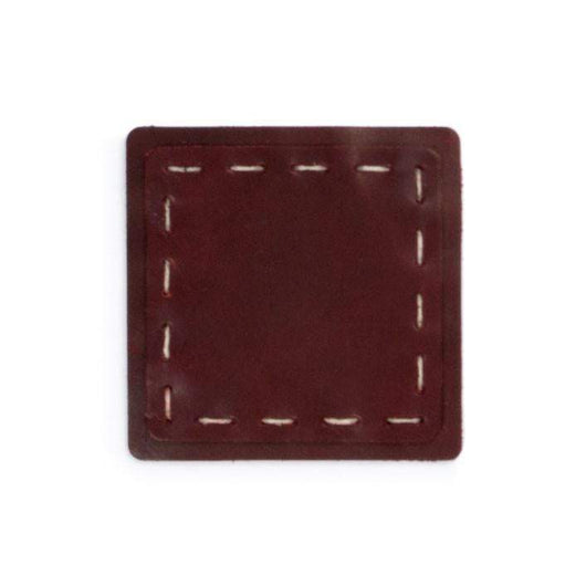 Burgundy Custom Hand Sewn Leather Coasters