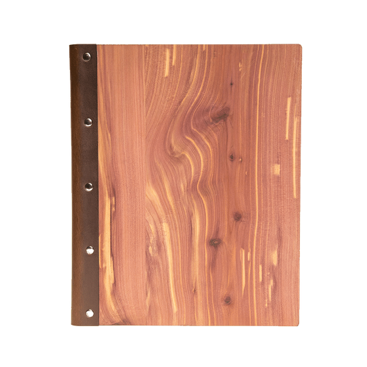 Cedar / Mini Custom Wood Padfolio