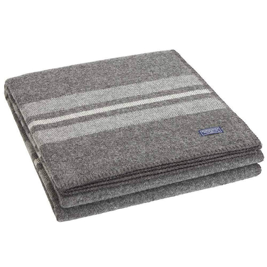 Charcoal Custom Faribault Cabin Wool Throw