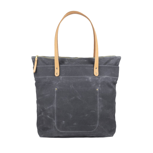 Grey Custom Zip-Top Tote