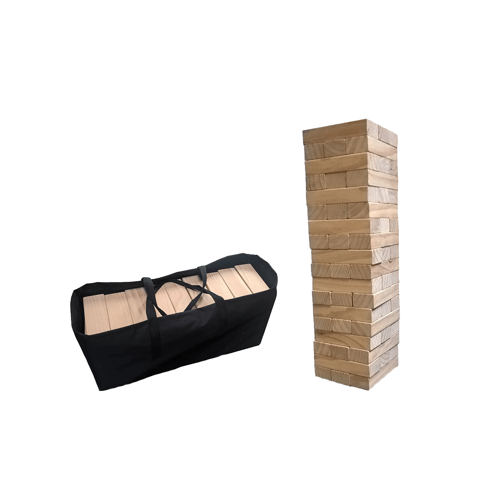 Giant Wood Block Tower That Tumbles When You Play