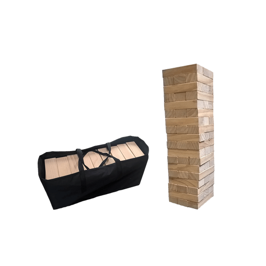 Custom Giant Wood Block Tower That Tumbles When You Play