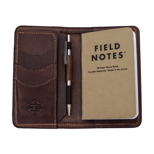 Custom Leather Field Notes