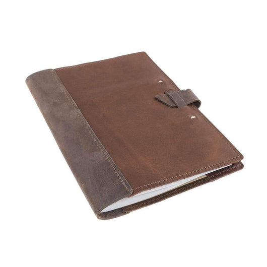 Dark Brown/Saddle Custom Large Leather Composition Cover