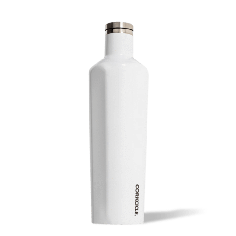 Gloss White Custom Corkcicle Canteen - 25oz