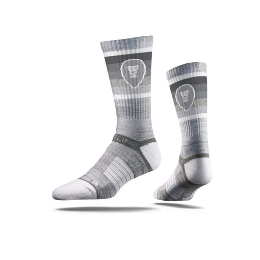 Gray / Crew Custom Custom Printed Premium Socks