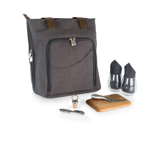 Gray Custom Sonoma Wine and Cheese Tote