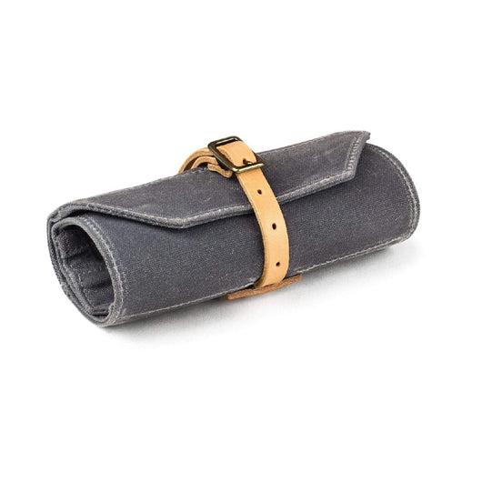 Grey Waxed/Natural Leather Custom Utility Roll