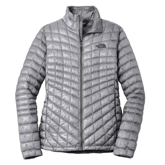 Mid Grey / SM Custom The North Face Ladies ThermoBall Trekker Jacket