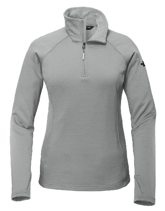 Mild Grey / SM Custom The North Face Ladies Mountain Peaks 1/4-Zip Fleece