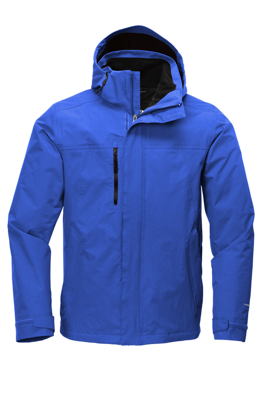 Monster Blue/TNF Black / SM Custom The North Face Traverse Triclimate 3-In-1 Jacket