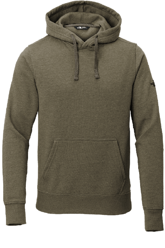 NW Taupe Green Heather / SM Custom The North Face Pullover Hoodie