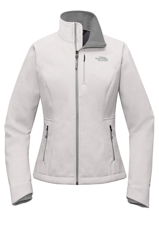 TNF Light Grey Heather / SM Custom The North Face Ladies Apex Barrier Soft Shell Jacket