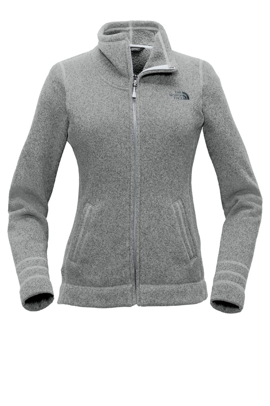 TNF Medium Grey Heather / SM Custom The North Face Ladies Sweater Fleece Jacket