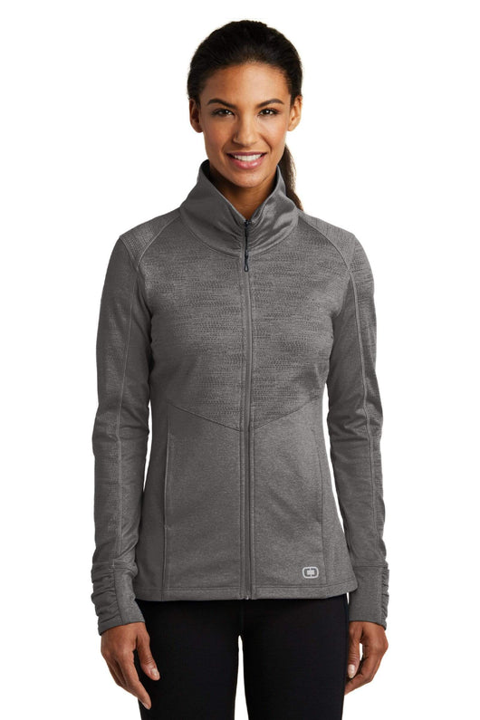Track Grey Heather / XS Custom ENDURANCE Ladies Sonar Full-Zip