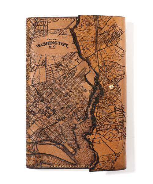Washington DC Custom Leather Map Journals