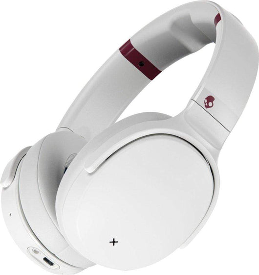 White/Crimson Custom Skullcandy Venue Noise Canceling Wireless Headphones