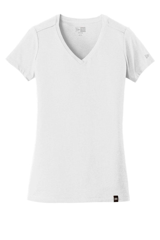White / XS Custom Ladies Heritage Blend V-Neck Tee