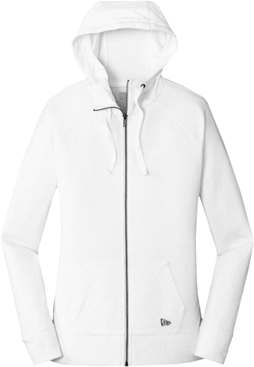 White / XS Custom Ladies Sueded Cotton Full-Zip Hoodie