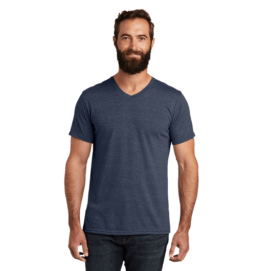 XS / Rebel Blue Custom Allmade Unisex Tri-Blend V-Neck T-Shirt