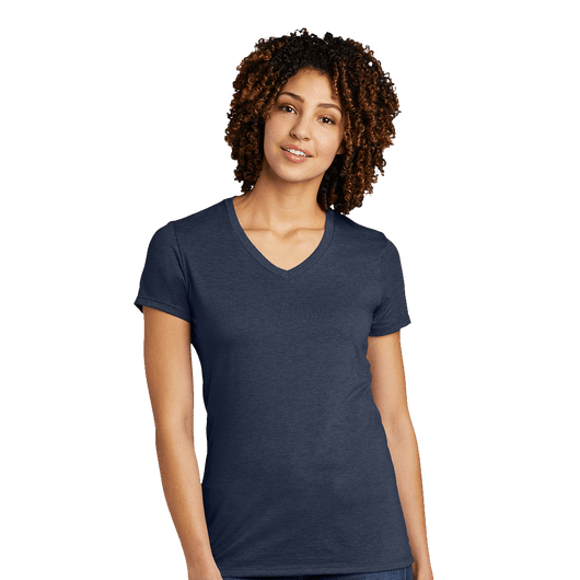 XS / Rebel Blue Custom Allmade Women's Tri-Blend V-Neck T-Shirt