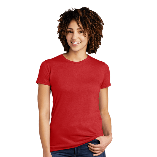 XS / Rise Up Red Custom Allmade Women's Tri-Blend Crewneck T-Shirt