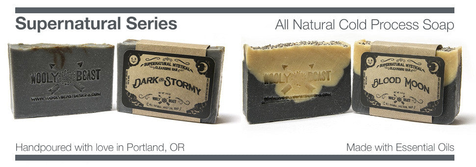 soap made with essential oils by wooly beast all natural soap supernatural collection