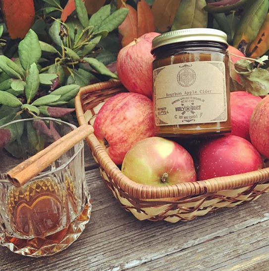 bourbon apple cider soy candle