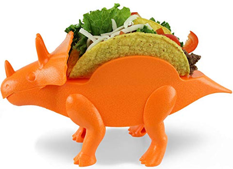 orange dinosaur taco holder