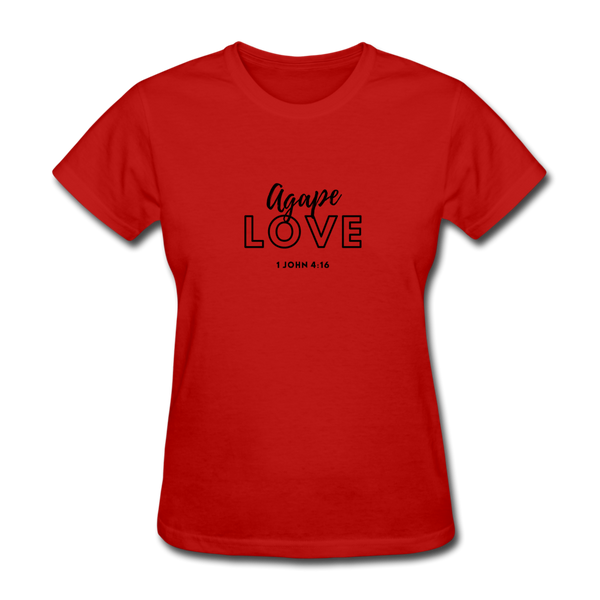 Inspirational Shirt (I-Shirt) Women's T-Shirt - red