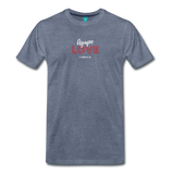 Inspirational Shirt (I-Shirt) Men's Premium Agape Love - heather blue