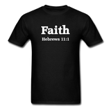 Inspirational Shirt (I-Shirt) Short-Sleeve Unisex - FAITH - black