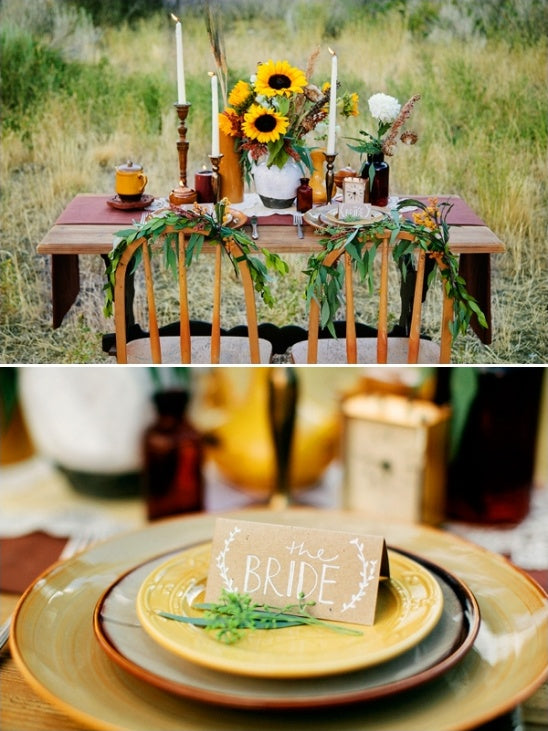 Sunflowers Wedding Table