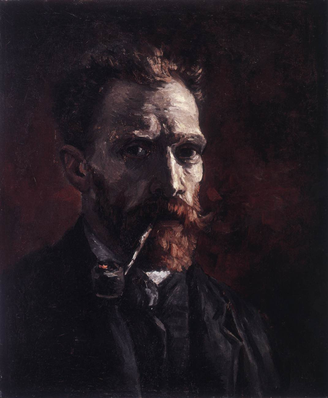 Van Gogh Self Portrait with Pipe