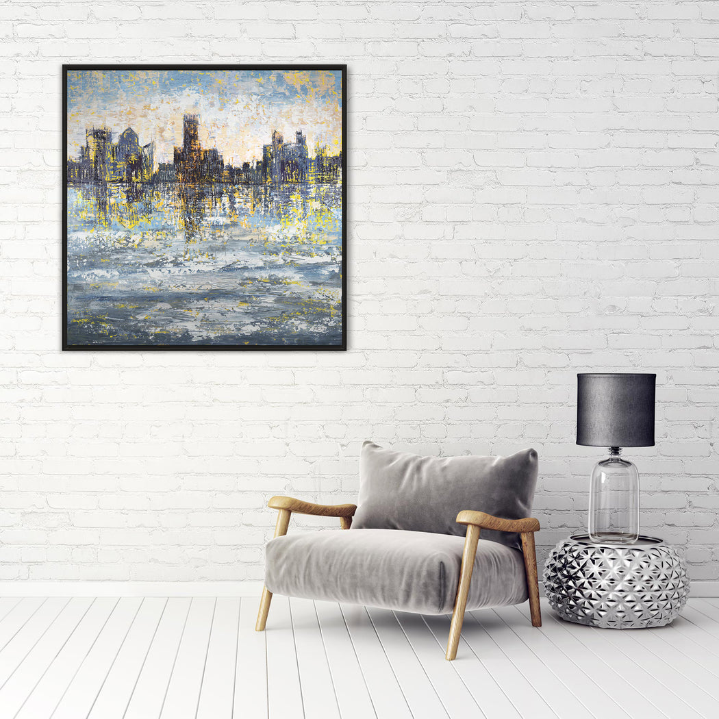 Abstract City Skyline Print by Pietro Adamo