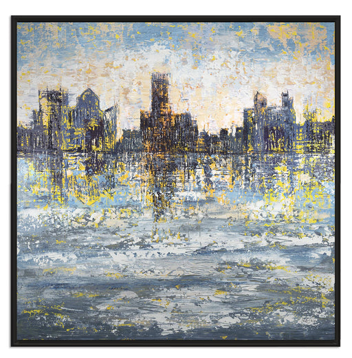 Framed Abstract City Skyline Art Print, On the Town by Pietro Adamo