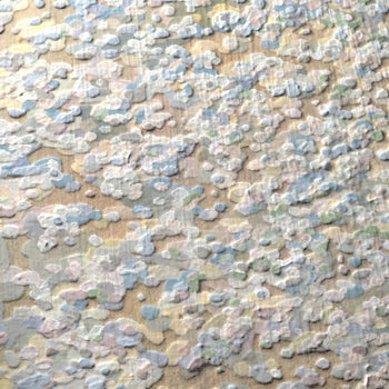 Detail of Baylis' Abstract Impressionism Textured Art Print