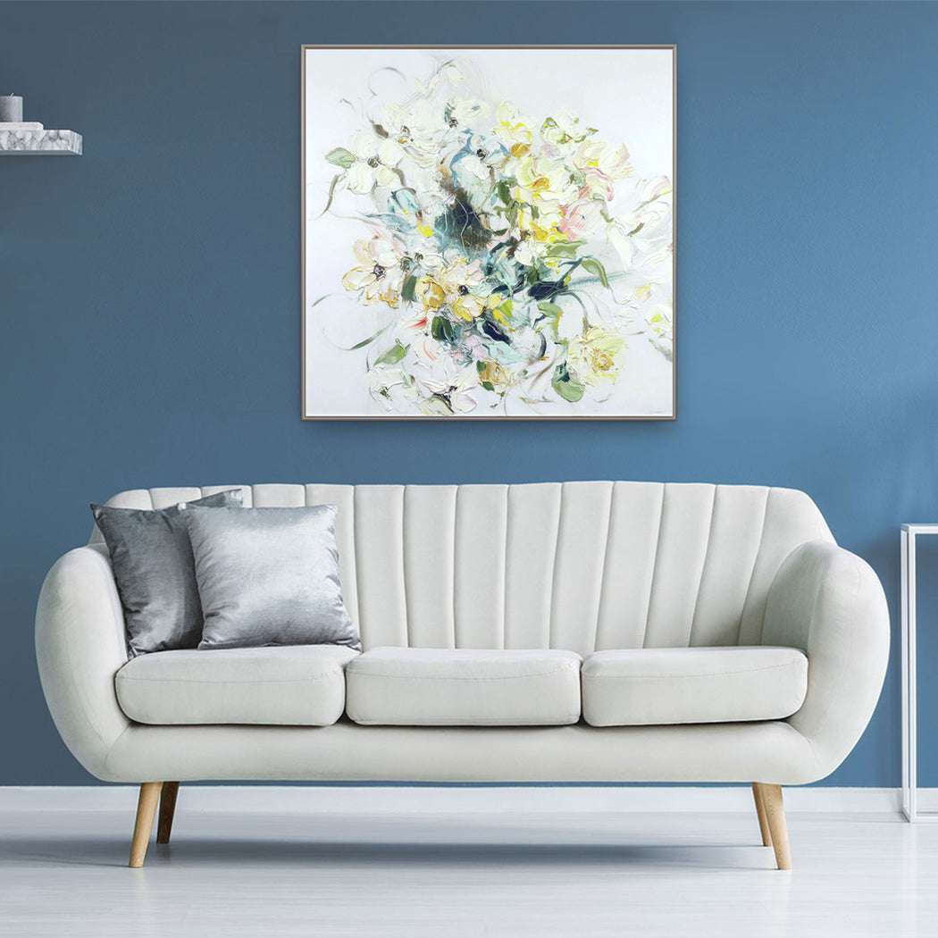 Stephanie Fehrenbach Dogwood Impasto Floral Artwork. Géomatique™ Textured Art Print Home Decor