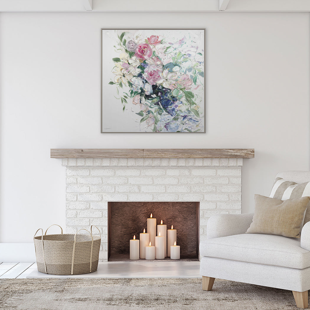 Stephanie Fehrenbach Impasto Floral Géomatique™ Textured Art Print
