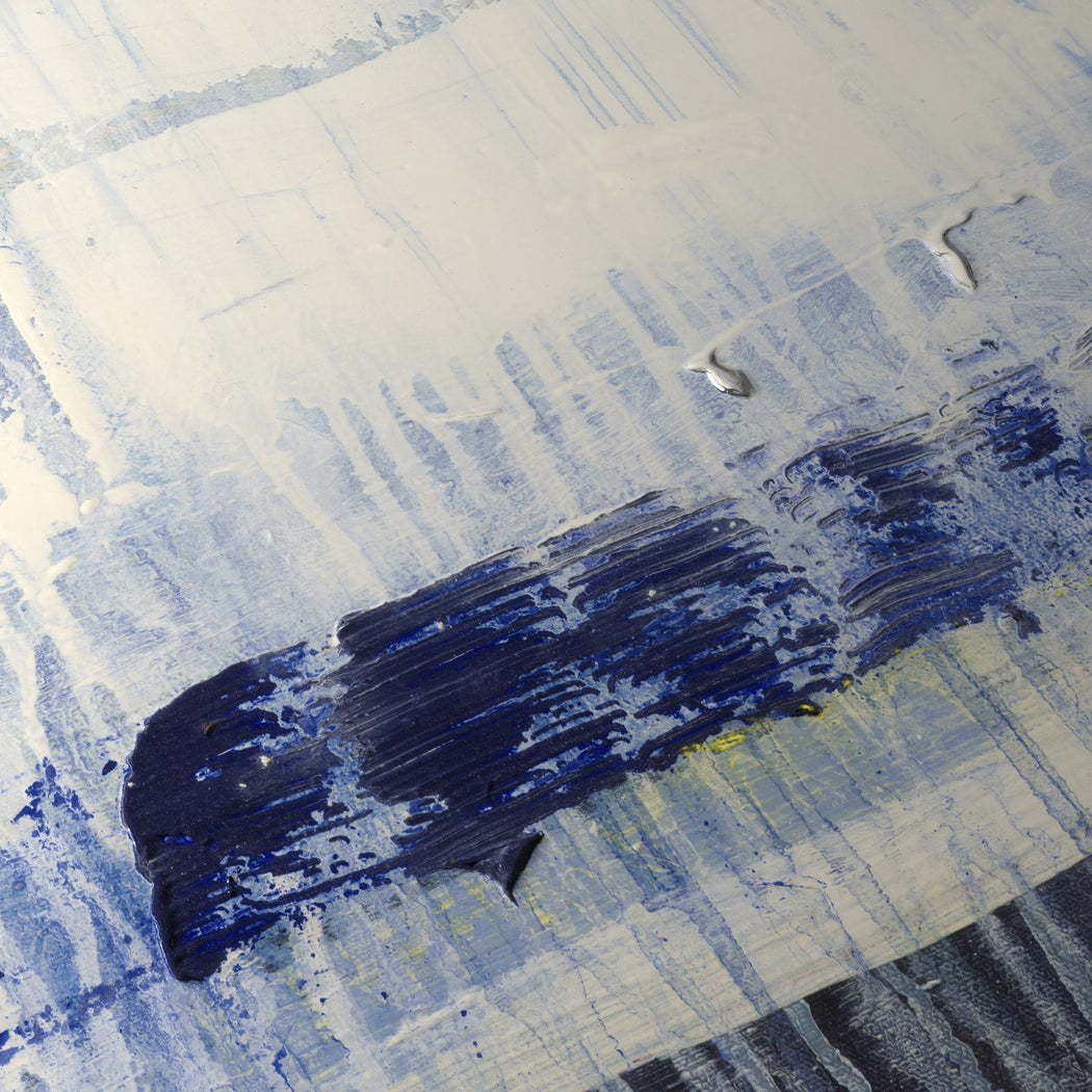 Contemporary Landscape Géomatique Textured Art Print: Detail of Famous Blue Rain (Olivia)