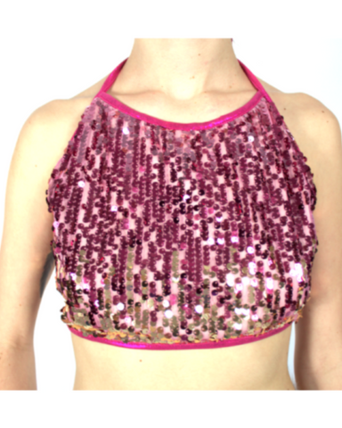 Babe Halter Pink Ombre