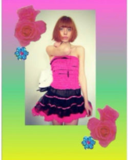 80's Inspired Tutu Tube Dress
