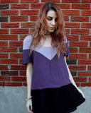 Purple Satin Two-toned Top