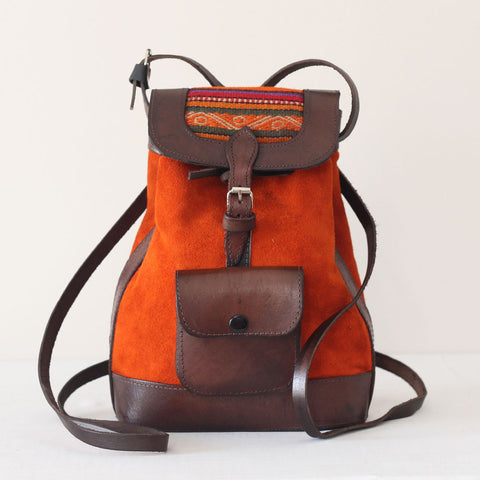 La Ciudad 2 Backpack/Crossbody - Burnt Orange