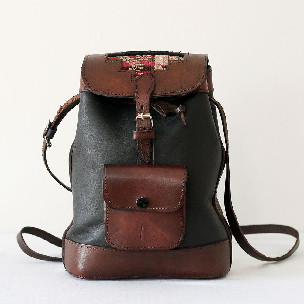 La Ciudad 2 Backpack/Crossbody - Dark Leather