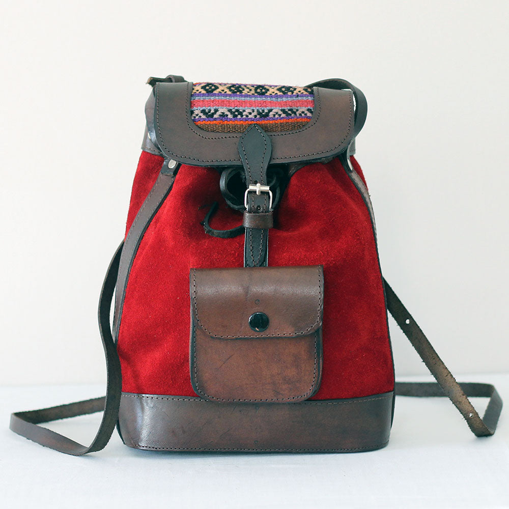 La Ciudad 2 Backpack/Crossbody - Deep Red