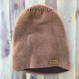 Reversible Knit Hat - Brown/Brown
