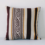 El Dorado Pillow - Maroon/White